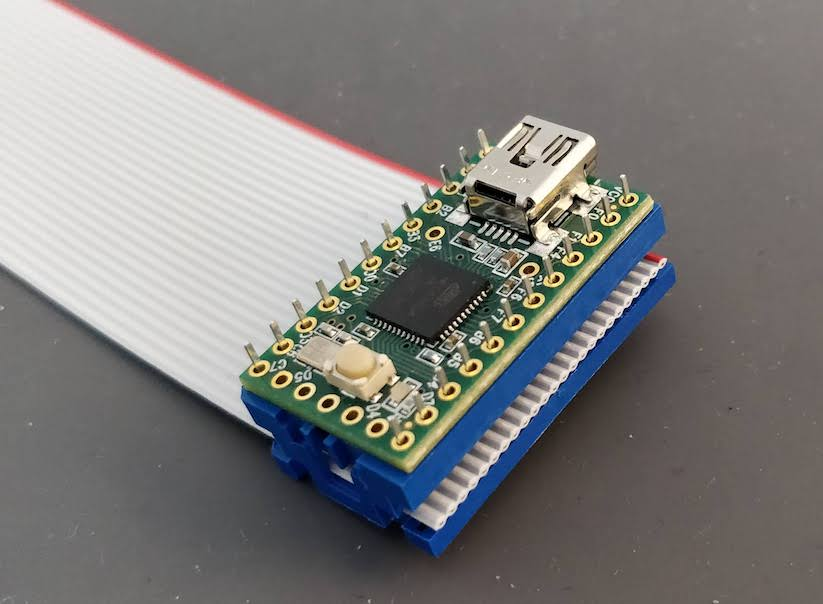 the ribbon cable and the teensy